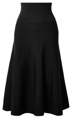 The Row Allesia Wool-blend Midi Skirt - Black