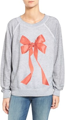 Women's Wildfox I'M The Present Pullover $114 thestylecure.com