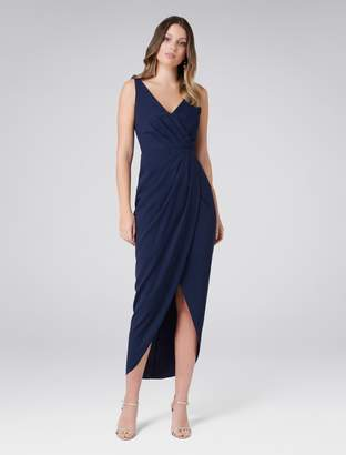 Forever New Victoria Wrap Dress - Nude - 10