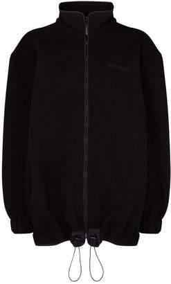 Vetements Pirate Bay Print Fleece Jacket