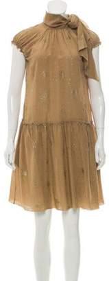 Tomas Maier Silk Metallic Dress w/ Tags gold Silk Metallic Dress w/ Tags