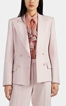 Alberta Ferretti Women's Wool Double-Breasted Blazer - Pink