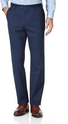 Charles Tyrwhitt Dark Blue Classic Fit Stretch Cotton Chino Pants Size W32 L30