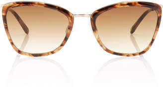 Garrett Leight Louella Tortoiseshell Cat-Eye Sunglasses