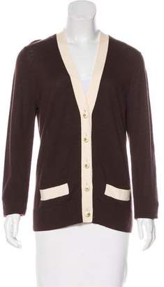 Tory Burch Wool Long Sleeve Cardigan