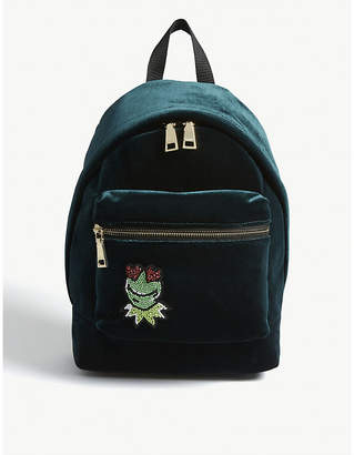 Sandro Kermit the Frog velvet backpack