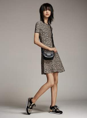 MICHAEL Michael Kors Billie Chain-Mesh and Leather Sneaker
