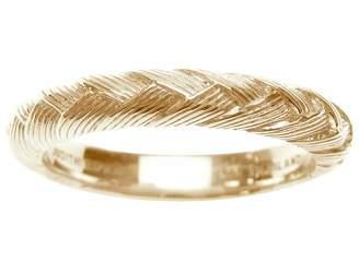 Judith Ripka Sterling & 14K Clad Braided BergeBand Ring