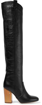 Laurence Dacade - Silas Crinkled-leather Over-the-knee Boots - Black $1,190 thestylecure.com
