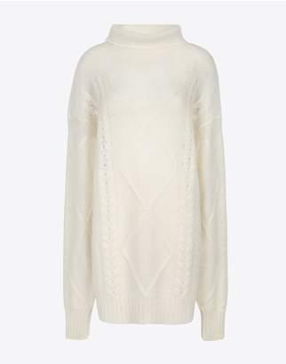 Maison Margiela Diamond Braided Oversized Knitted Jumper