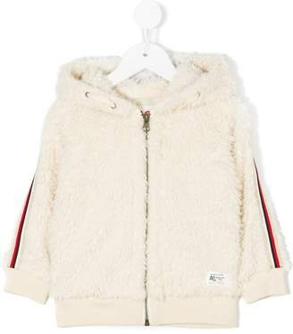 American Outfitters Kids faux fur zipped hoodie