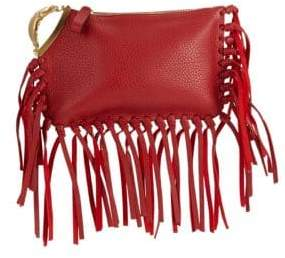 Valentino Fringe Leather Clutch