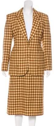 Burberry Vintage Wool Skirt Suit