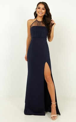 Showpo Still Love You Dress in navy - 4 (XXS) Bridesmaid