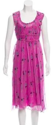 Philosophy di Alberta Ferretti Printed Sleeveless Midi Dress