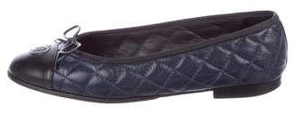 Chanel Quilted CC Ballet Flats