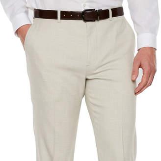Jf J.Ferrar Stretch Light Tan Slub Super Slim Fit Suit Pants