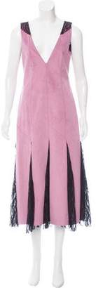 Prabal Gurung Lace-Paneled Midi Dress