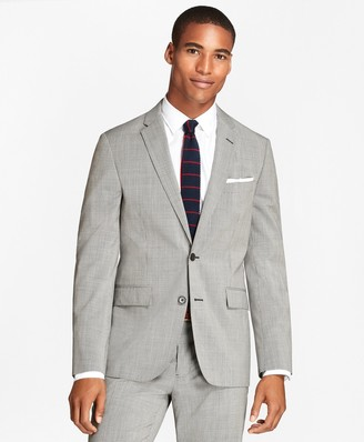 Brooks Brothers Houndscheck Wool Suit Jacket