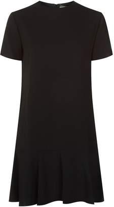 Saint Laurent Flounce Hem Mini Dress