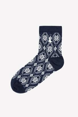 Jack Wills Outhgill Single Snowflake Ankle Sock