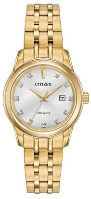 Citizen Women's Diamond Accented Stainless Steel Casual Watch, 28mm - 0.0053 ctw