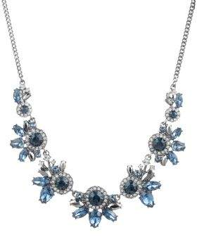 Givenchy Hematite-Plated and Crystal Cluster Necklace