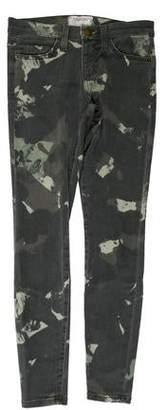 Current/Elliott Mid-Rise Printed Jeans