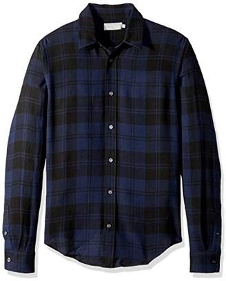 Vince Men's Two Tone Plaid Long Sleeve Button Down Shirt