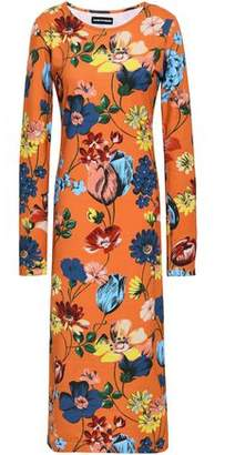 House of Holland Floral-print Stretch-cotton Jersey Midi Dress