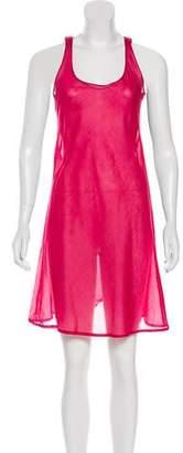 Burberry Sleeveless Semi-Sheer Dress