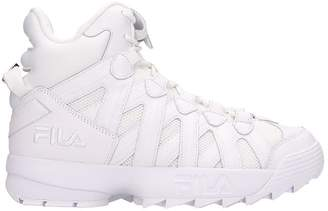 Fila White Leather D-stack Cage