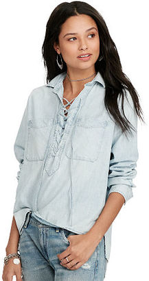 Ralph Lauren Denim & Supply Lace-Up Chambray Shirt $145 thestylecure.com