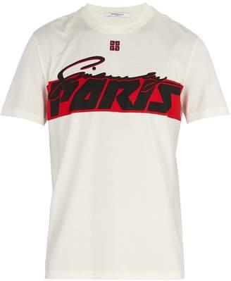 Givenchy Paris-print cotton T-shirt