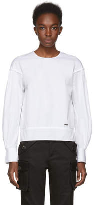 DSQUARED2 White Wide Sleeve Blouse