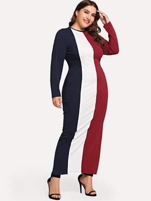 Shein Plus Cut-and-sew Bodycon Dress