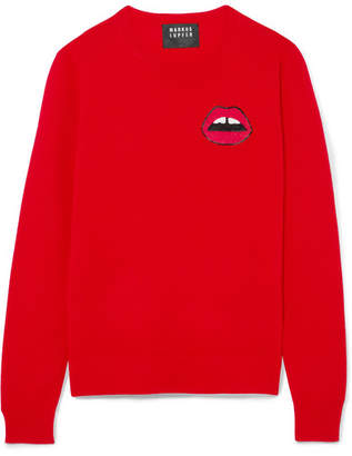 Markus Lupfer Tracy Sequin-embellished Merino Wool Sweater - Red