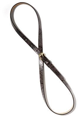 New York & Co. Skinny Faux-Snakeskin Belt