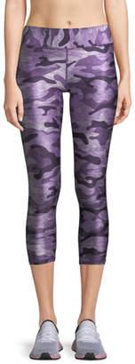 Terez Ultra Violet Camo-Print Capri Leggings