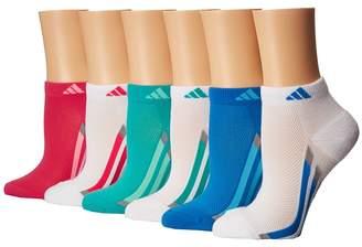 adidas Kids Vertical Stripe 6-Pack Low Cut Socks Girls Shoes