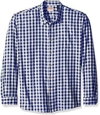 Wrangler Authentics Men's Big & Tall Long Sleeve Premium Gingham Shirt