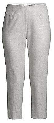 Peserico Women's Shimmer Side-Zip Cropped Pants