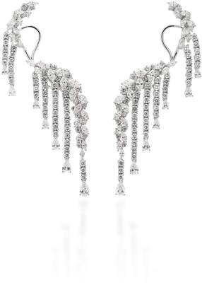 Yeprem 18K White Gold Diamond Ear Climbers