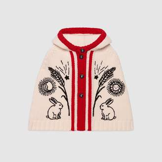 8091c9f59cc Gucci Baby embroidered chunky wool cape
