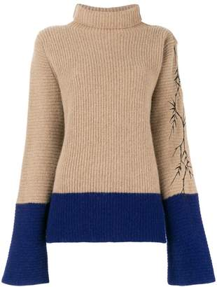 Haider Ackermann contrast detail knit jumper
