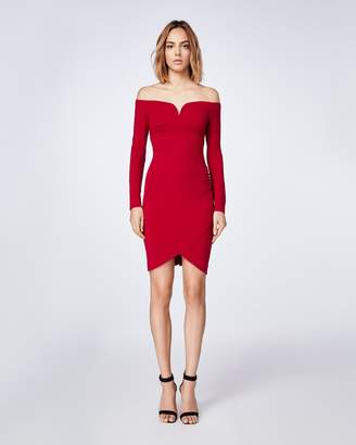 Nicole Miller Jersey Off Shoulder Dress