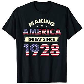 Make America Great Since 1928 90th Birthday Shirt Gifts