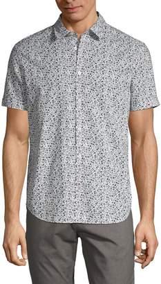 John Varvatos Floral-Print Button-Down Shirt
