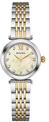 Bulova Women's Quartz Stainless Steel Dress Watch (Model: 98P154) $325 thestylecure.com