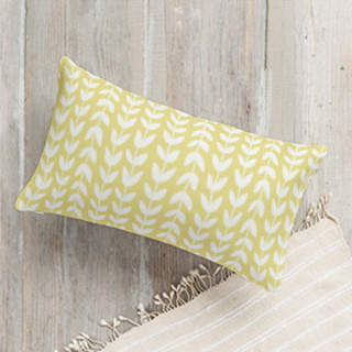 Flower Fields - Leafy Vines Lumbar Pillow
